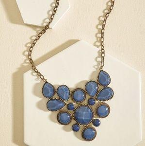 Modcloth pale blue stone statement necklace